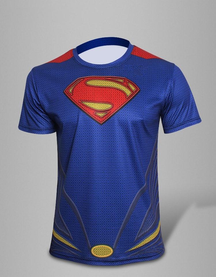 2016 Men Fashion Marvel Superhero Avengers Captain America Spiderman T shirt Men Boy Fitness Causal tshirt homme