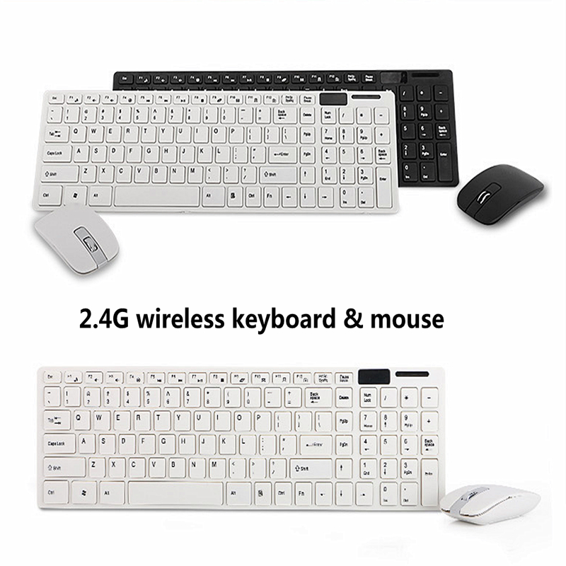 2 4g ultra slim mini keyboard mouse wireless combo set white chocolate silent wireless mouse and. Black Bedroom Furniture Sets. Home Design Ideas