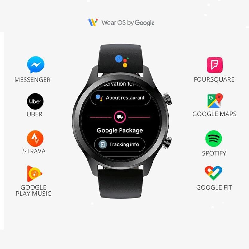 Original Ticwatch C2 Smartwatch Wear OS por Google incorporado GPS Monitor de ritmo cardíaco rastreador de Fitness Google pagar gratis regalo-Correa - 3