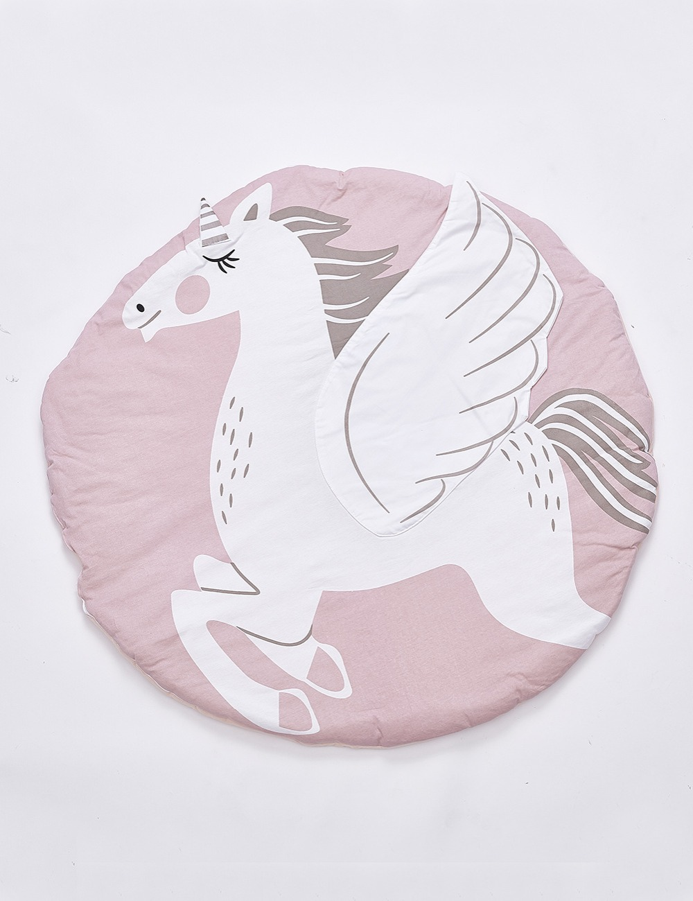 Quilted Cotton Baby Play Mat - Unicorn