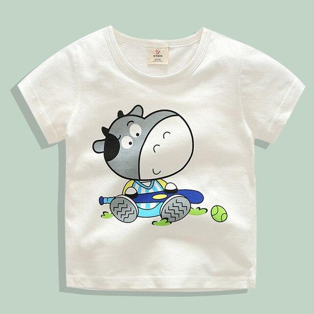 81d7b6c8d 2018 Baby Boys Girls T Shirt Cow Print Cotton T shirt For Kids ...
