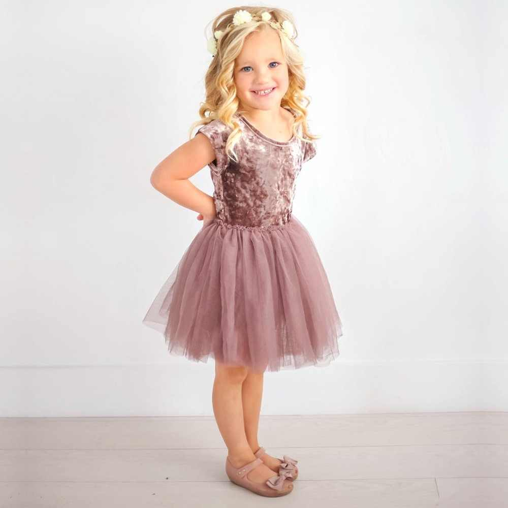 b9b603abb0f0 Detail Feedback Questions about 2018 Kid Baby Girls Dress Velvet Tulle Tutu Dress  Party Wedding Princess Dresses Children Baby Girl Clothes for 6M to 5T on  ...