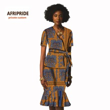 African graceful fashion dress for women suit skirt casual african clothing print cotton wax plus size 2017 private custom