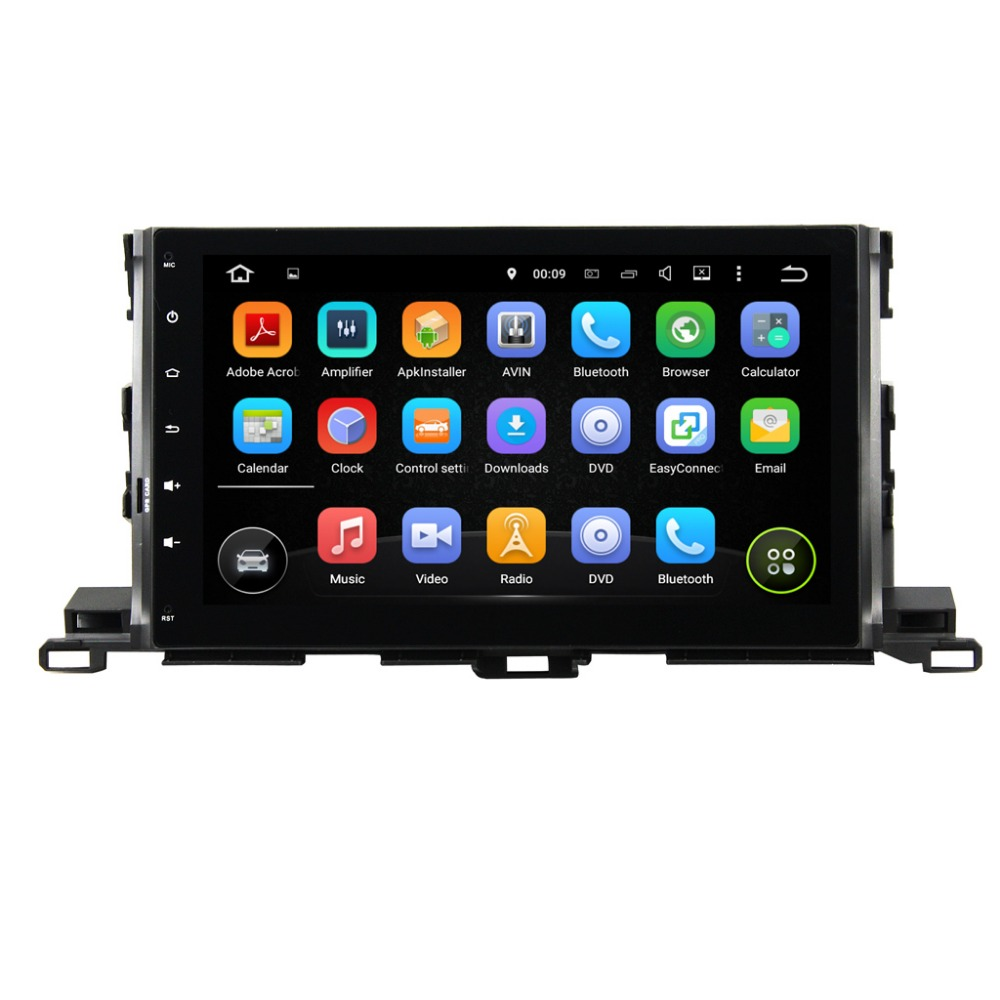 10.1 inch Quad Core 1024*600 Android 5.1 car Radio Radio Stereo for TOYOTA HIGHLANDER 2015 Car GPS Navigation Video player