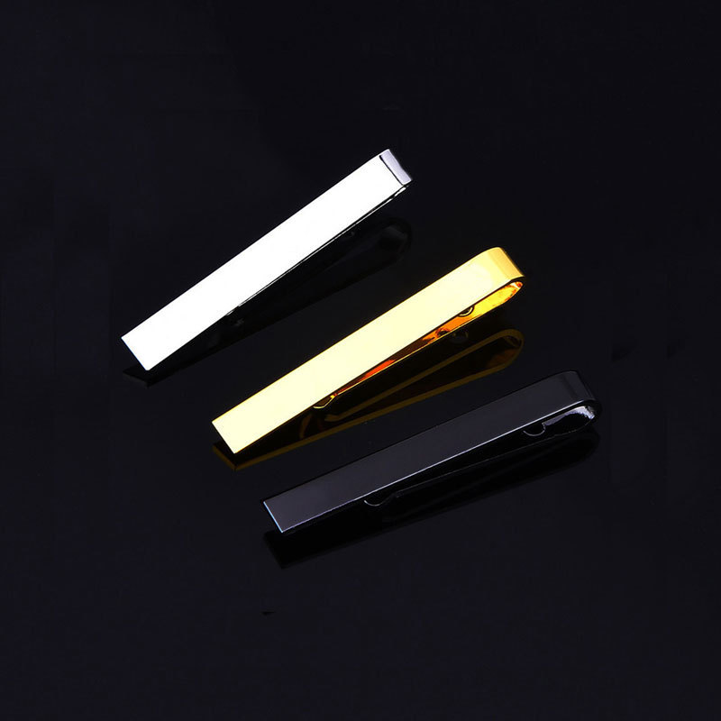 2019 Hot Sale New High Quality Copper 】 Stickpin Gold Silver Contracted Man Tie Clip Spot Wholesale