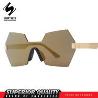 New 2017 Global Bestseller Paris Models Cover Type Female Fashion Sunglasses Siamese Metrosexual Man Sports Outdoor