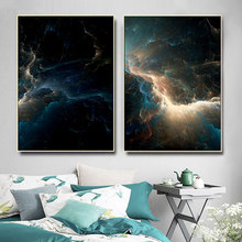 Outer Space Nebula Posters and Prints Universe Canvas Painting Wall Pictures for Living Room Wall Decor Two-picture Combination(China)