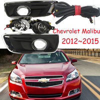 One set car bumper lamp for Chevrolet Malibu fog light 2012 2013 2014 2015year halogen 4300K car Accessories malibu headlight