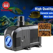 Pompa Air Adjustable Berubah untuk tangki ikan akuarium, pompa akuarium laut terumbu karang, spons pompa submersible untuk kolam kolam