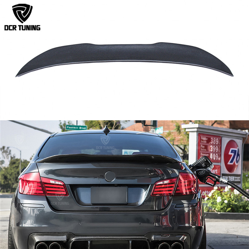 PSM Style For BMW F10 Spoiler Performance 2010 + 5 Series Sedan F10 Carbon Spoiler F10 M5 Rear Trunk Wings Spoiler спойлер bmw f10 5 2010