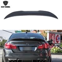 PSM Style For BMW F10 Spoiler Performance 2010 2016 5 Series Sedan F10 Carbon Spoiler F10 M5 Rear Trunk Wings Spoiler