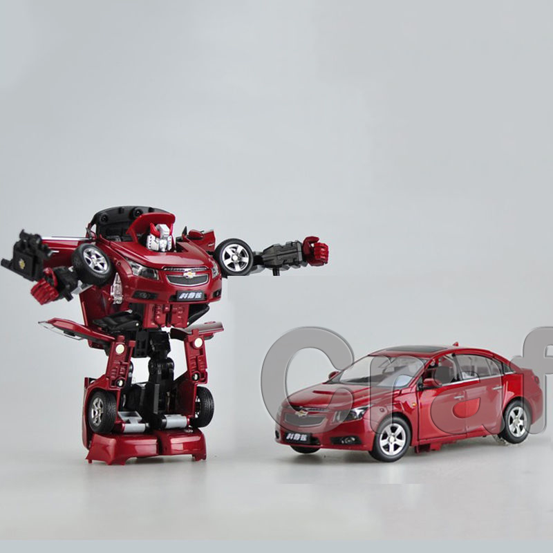 * Red 1:24 Red Chevrolet Cruze Transformer Auto Alloy Diecast Model Cars Slot Cars Hobby
