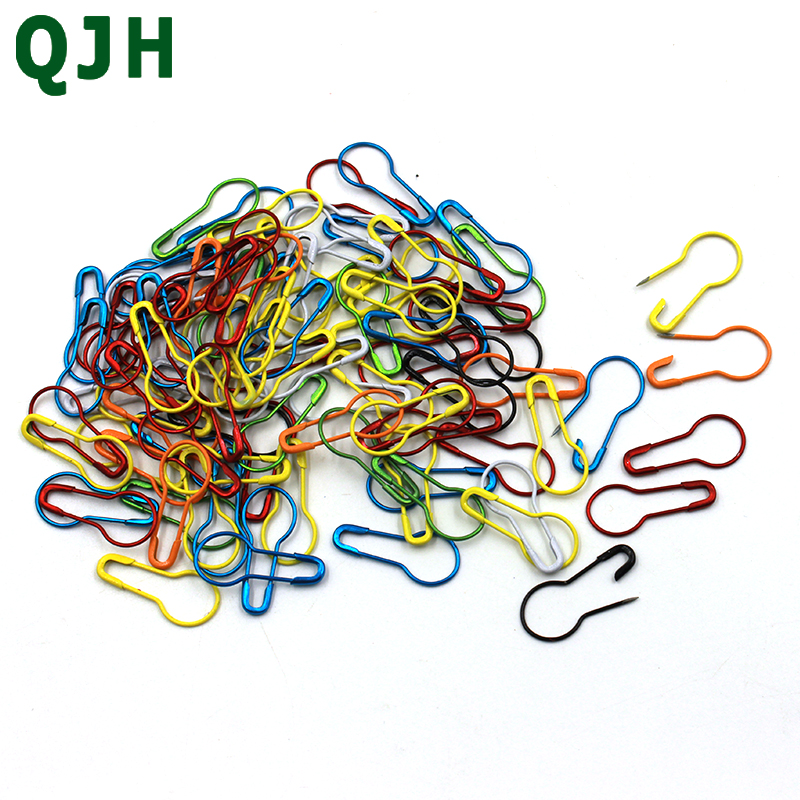100pcs/pack Multicolor safety pins Colored Baking paint Metal Gourd pins DIY Sewing Tools Accessory practical Marking pin RX167