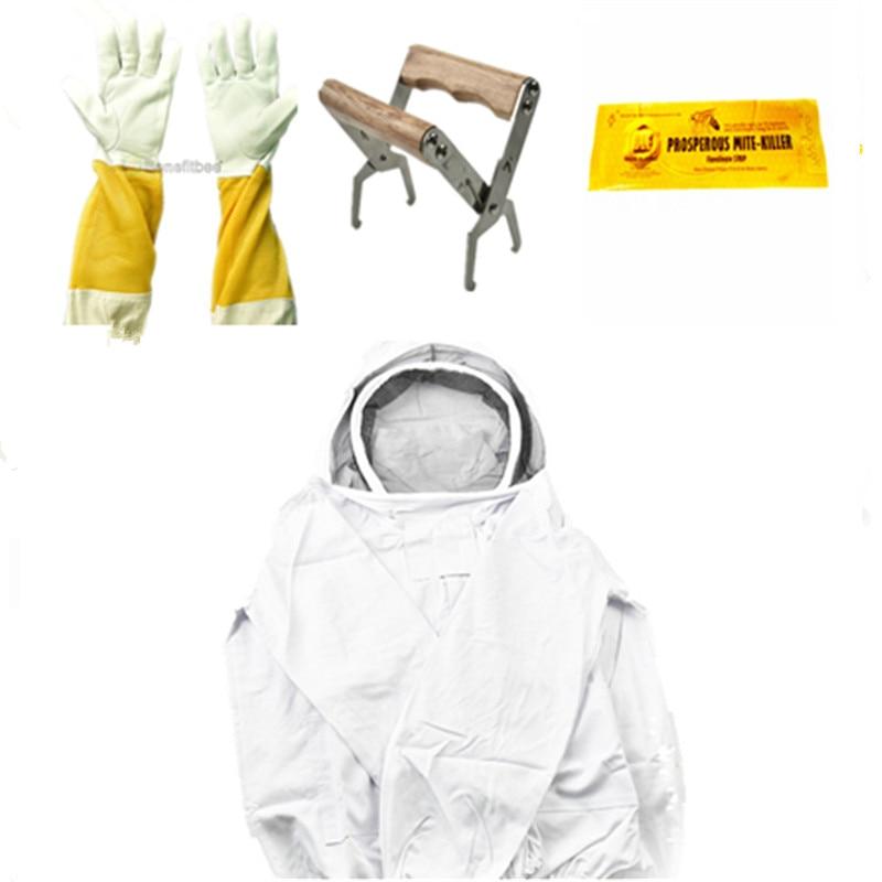 4 piezas apicultura profesional abeja tela protectora/abeja ...