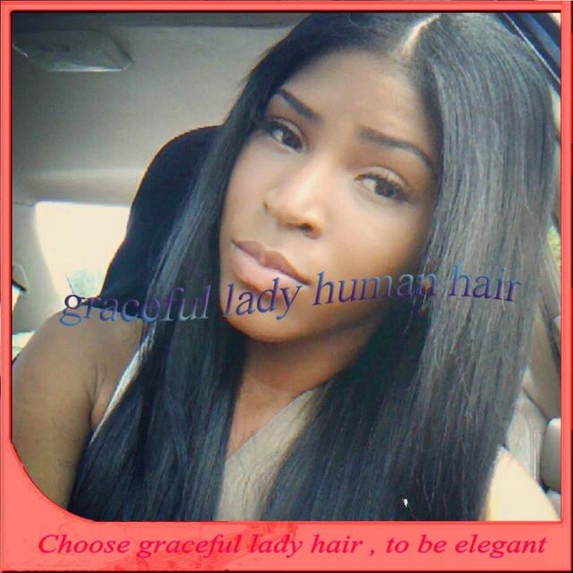 5A long straight natural hailine 100% brazilian virgin human hair glueless  full lace wigs for black women wendy williams wigs 3aa7fad0c8