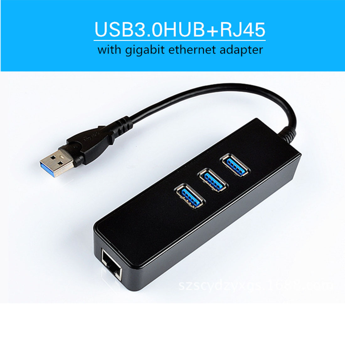 נוייקרה USB 3.0 1000Mbps Gigabit Ethernet מתאם USB ל RJ45 לאן כרטיס רשת 3 יציאת USB3.0 Hub