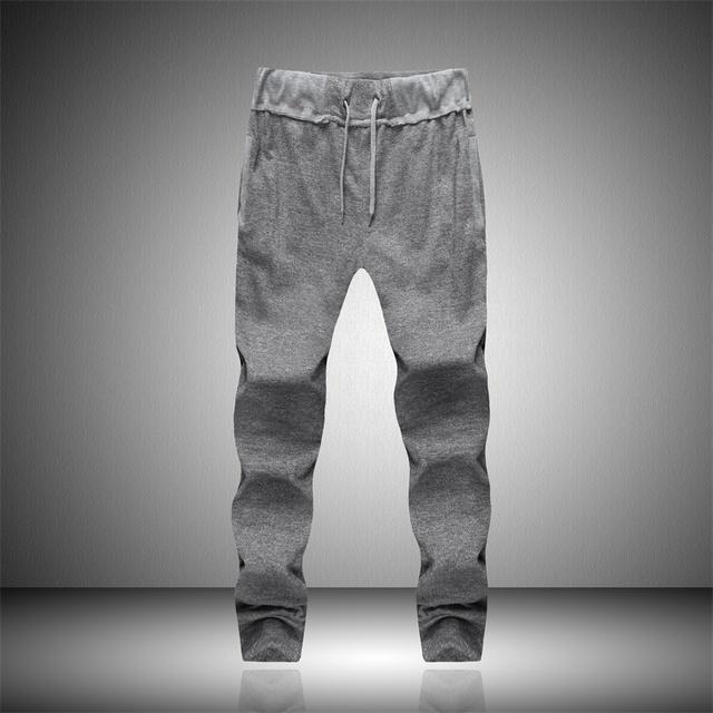 Los hombres Pantalones de Harén marca 2016 pantalones de los hombres Casuales Flacidez Pantalones Tiro Caído Hombres Joggers Pantalón Pies pantalones colgando entrepierna