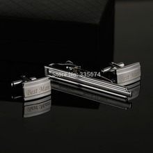 CT-009B  High quality & low price gift for your wedding shirts Personalized cufflinks and tie links Groomsmen Gifts