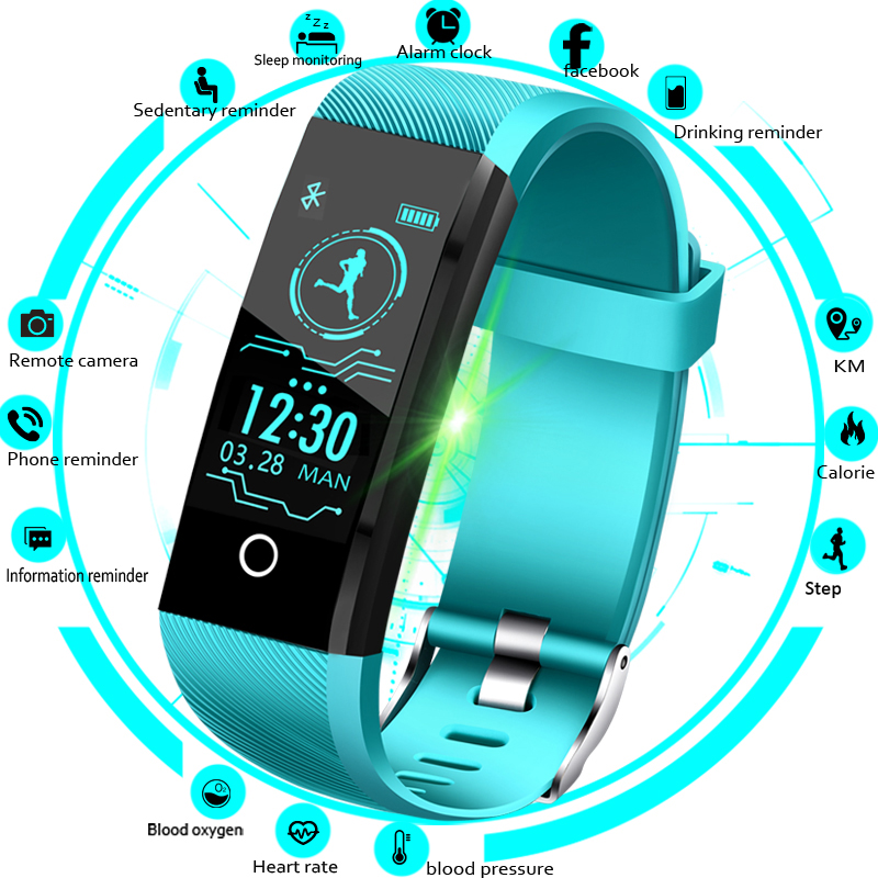 LIGE 2019 Smart Watch Men Blood Pressure Heart Rate Monitor Fitness Tracker Women