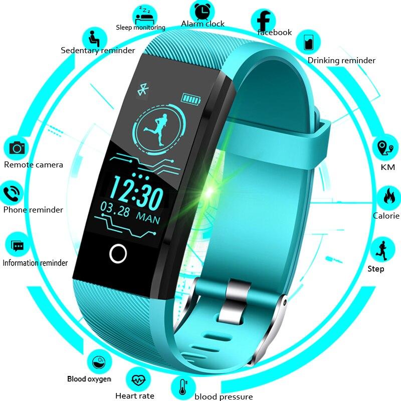 LIGE 2019 New Smart Watch Men Blood Pressure Heart Rate Monitor Fitness Tracker Women Smart Bracelet Sports Bracelet Smart Band