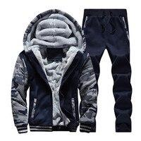 2017 Hoodies Pants Clothing Man S Winter Plus Velvet Hoodie Men Print Hooded Jacket Coats Long