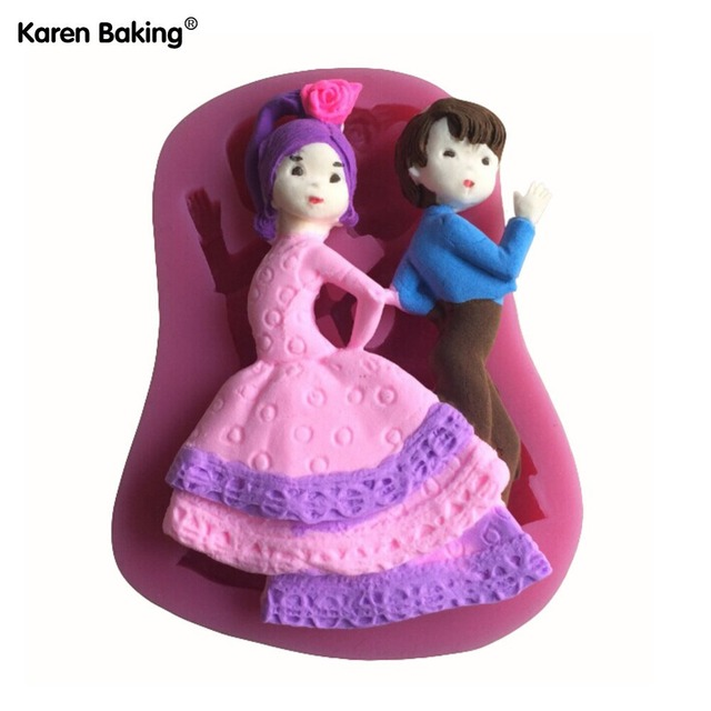 New Arrival Beautiful Dancing Boy And Girl Decorating Moldtools