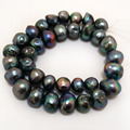 16 inches 13-15mm Black Large Baroque Pearl Loose Strand