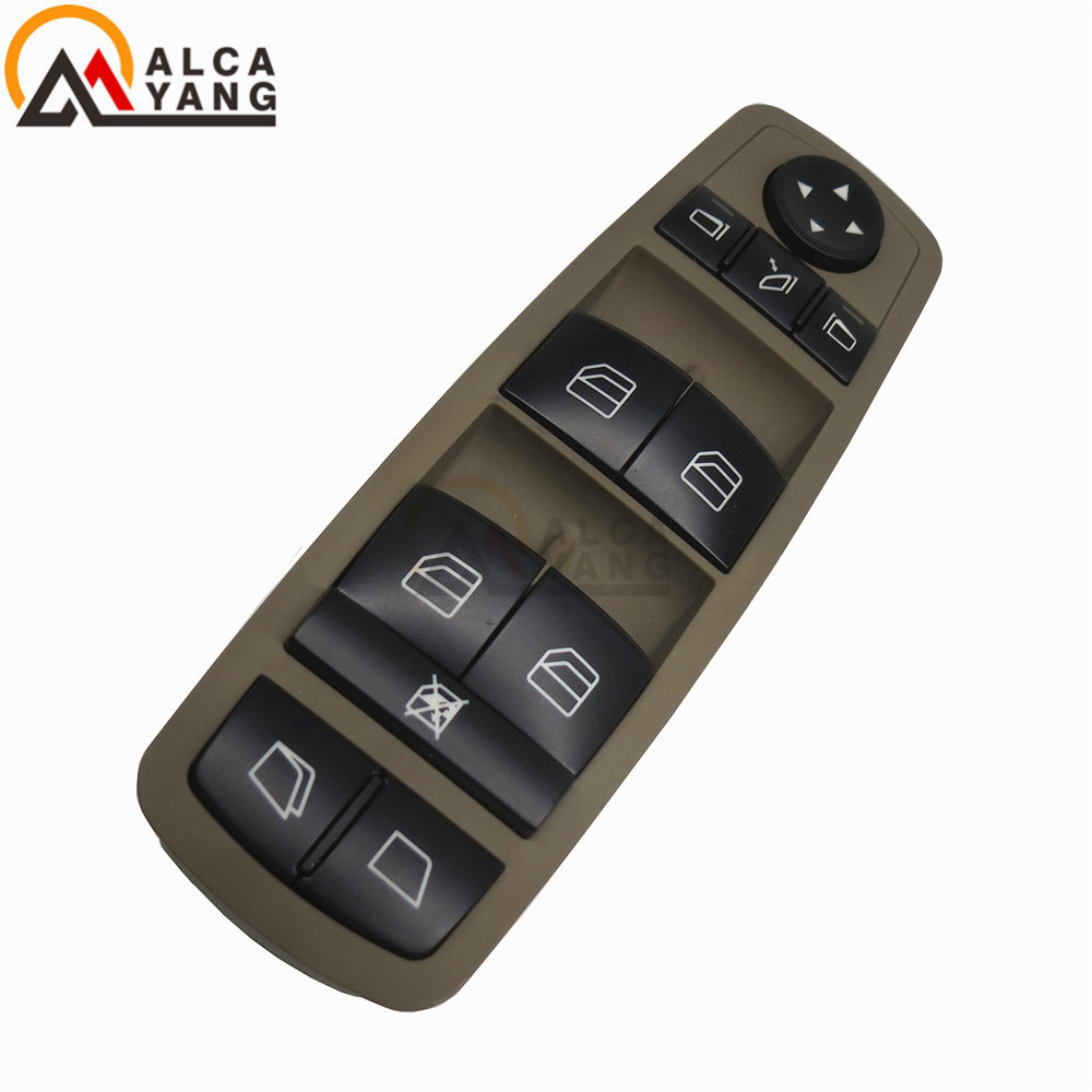 Malcayang Brown Drivers Window Mirror Master Switch For Mercedes-Benz GL R Class A2518300390/2518300390/A251 830 03 90