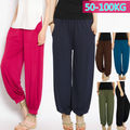Plus Size Oversized Women Ladies Modal Pants Causal Cotton Stretch Loose Trousers Bloomers Baggy Soft Harem 100KG 204-122
