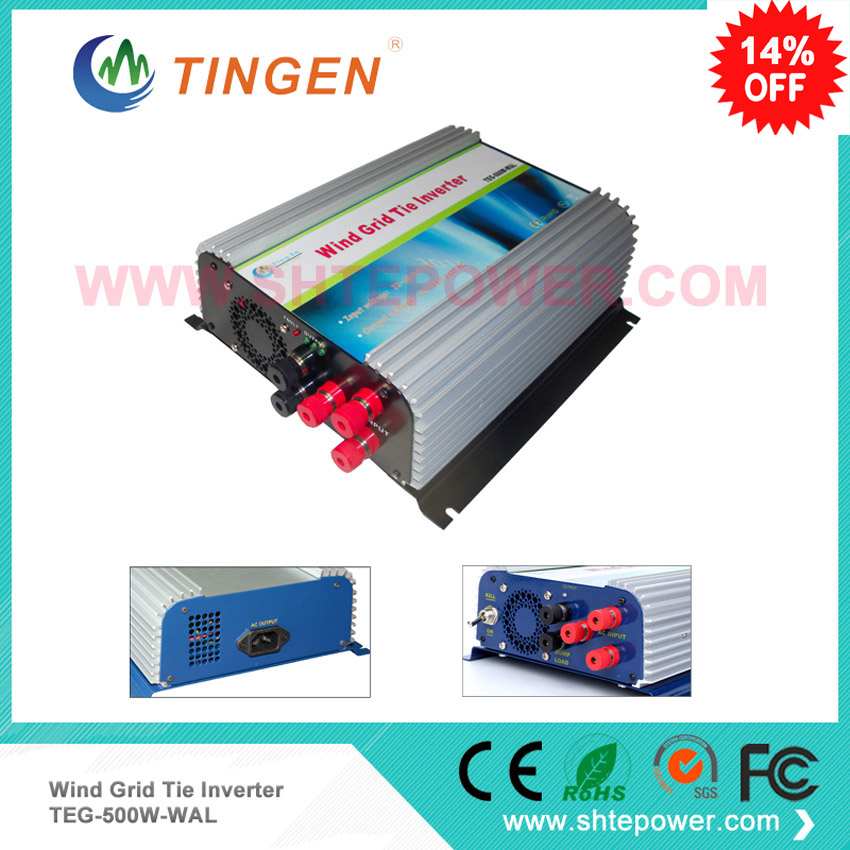 Windmill grid tie turbine inverter 500w 3 phase AC input 10.8-30v to ac output dump load controller function solar power on grid tie mini 300w inverter with mppt funciton dc 10 8 30v input to ac output no extra shipping fee