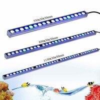 Lampy Led Akwarium Taśmy 54 w/81 w/108 w aquaponics rafy koralowej akwarium Doprowadziły Światła morskie Bar Biały Niebieski UV 55 cm/85 cm/115 cm Światła