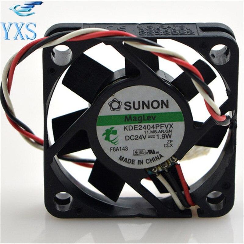 Kde2404pfvx ms. ar. gn dc24v 4010 4cm 40*40*10mm 1.9 w 3 fios mudo inversor ventilador de refrigeração