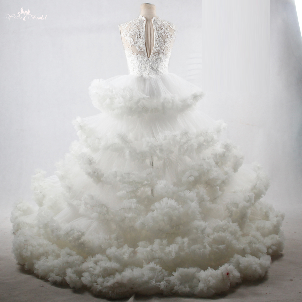 RSW1095 Luxus Wolke Designer Brautkleider Open Frontseiten schlitz ...