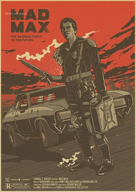 MAD MAX FURY ROAD WHAT A LOVELY DAY THE WAR RIG бумажный плакат настенная наклейка крафт-наклейки на стену