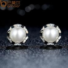 Earrings With White Pearl