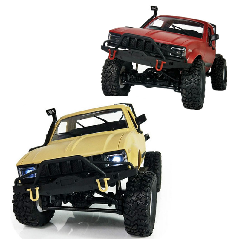 WPL C14 1:16 Mini Off-Road RC Truck Hynix 2.4G Remote Control Car 15km/h Top Speed Mini RC Monster Truck 4WD RTR/KIT rctown 1 16 rc truck wpl rc crawler car 2 4g mini off road remote control car mini rc truck toy
