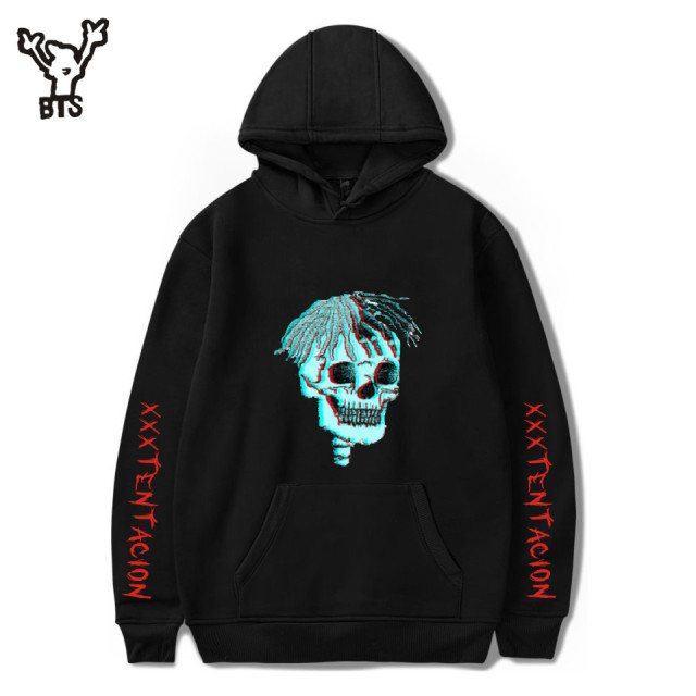 BTS 2018 Hot Sale Hip Hop Hoodies Sweatshirts Raper XXXTentacion Harajuku Men Cool Casual Print Autumn Plus Size 4XL A8322-A8324