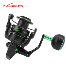 TSURINOYA FLYING SHARK 6.2:1 High Speed Fishing Reel 4000 5000 Spinning Reel 11+1BB 12KG Drag Aluminum Spool Carp Fishing Tackle tsurinoya flying shark 6 2 1 high speed fishing reel 4000 5000 spinning reel 11 1bb 12kg drag aluminum spool carp fishing tackle