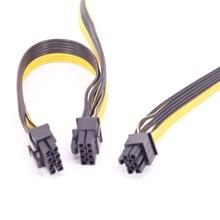 بكيي 6 دبوس إلى ثنائي 6 + 2 دبوس 8 دبوس GPU 6Pin إلى 8pin الطاقة كابل إمداد الطاقة ل برودة ماجستير الصامتة برو الذهب 1200W وحدات PSU