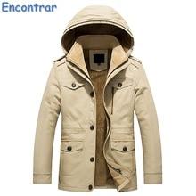 Encontrar Winter Jacket Parkas Men Casual Thick Single Breasted Cotton Warm Coat Men's Outwear Parka Plus Size 6XL ,QA371