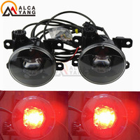 Malcayang For 2005 2012 Nissan Pathfinder Closed Off Road Vehicle R51 Car LED Fog Light Devil Eye Brand New Look