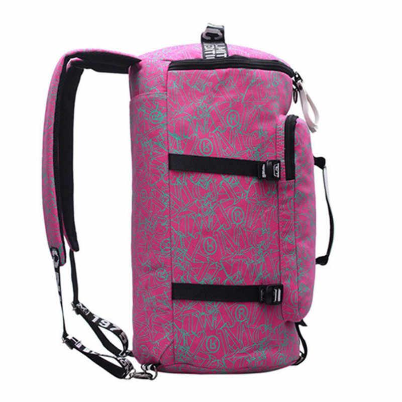 Известный бренд холщовые женские дорожные сумки для женщин большой емкости туристический рюкзак женская многофункциональная сумка через плечо