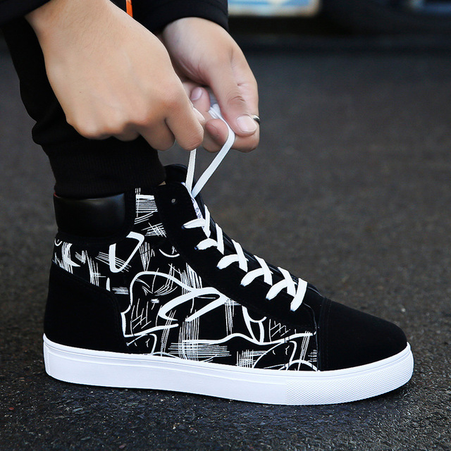 CHAISHOU 2019 new shoes man spring Comfortable Quality High Top Shoes Men Casual Shoes Breathable Zapatilla Hombre F-236