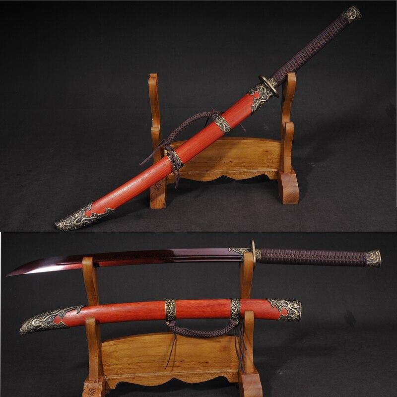 Китайский традиционный Меч Zhanma Dao Saber, ручная работа, сложенная стальная обшивка, готовое боевое искусство, острые поставки