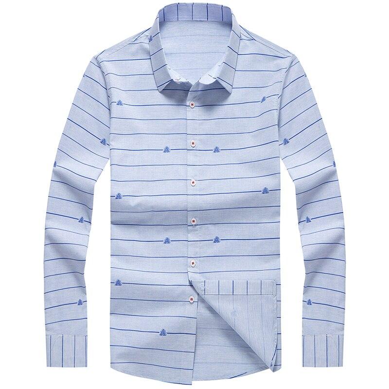 fb9443c7f45 Мужская рубашка с длинным рукавом Slim fit рубашки 2019 Весна Новые  повседневные мужские Топы Рубашки 8640