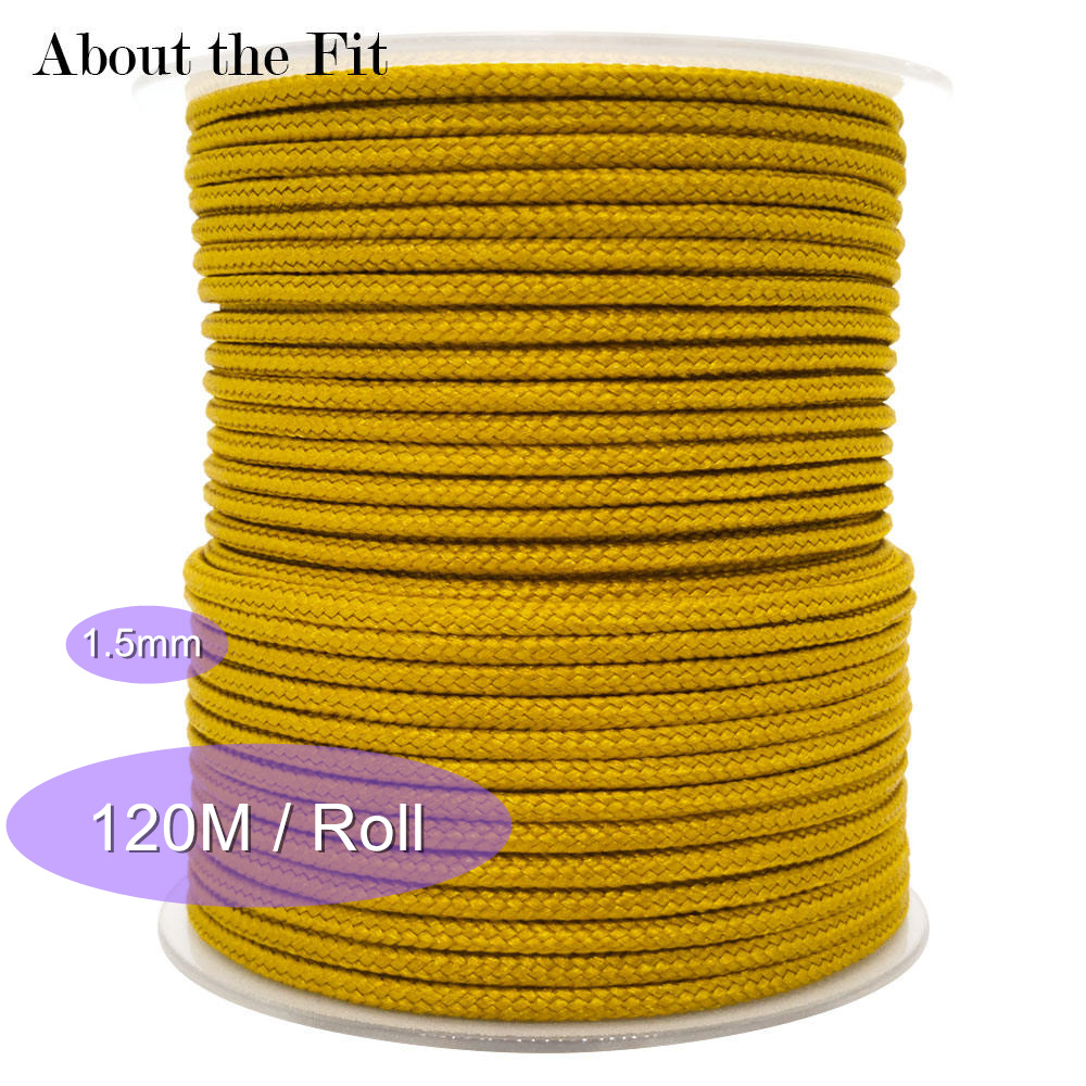 About The Fit Nylon Cord 1.5mm 100M/Roll Jewelry Accessories Beading Bracelet Lacing Necklace Crafts Rope High Quality Wholesale