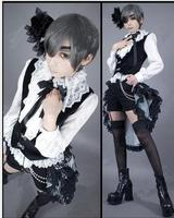 Free shipping new brand Black Butler Ciel Phantomhive Cosplay Costume