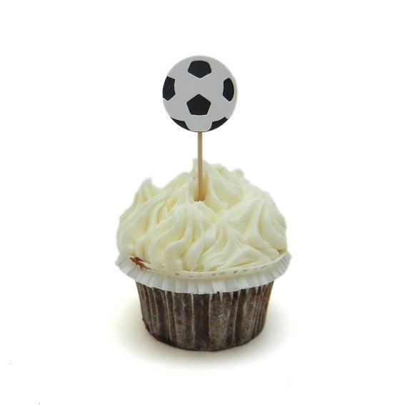 Soccer Ball Wedding Cupcake Toppers Food Picks Toothpick Bridal Baby Magnificent Soccer Ball Decorations Cupcakes