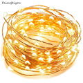 Feimefeiyou 50 100 LED Starry String battery Lights Fairy Micro LED Transparent Copper Wire for Party Christmas Wedding 5 colors