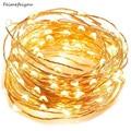 Feimefeiyou 50 100 LED Starry cadena de luces de hadas Micro LED transparente de alambre de cobre alambre para fiesta de boda 5 colores